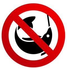 no fishing forbidden sign modern round sticker vector image