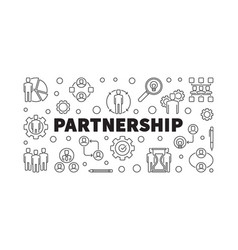 partnership concept outline banner or vector image
