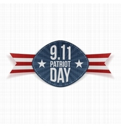 Patriot Day 9-11 Label with Ribbon vector