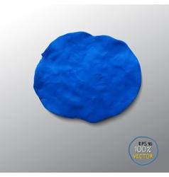 Plasticine blue figure vector image