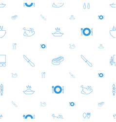 Plate icons pattern seamless white background vector