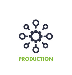 Production icon on white vector