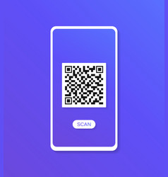 qr scanner modern flat style vector image