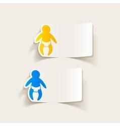 realistic design element baby vector image