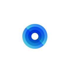 Round scanning radar logo concept search vector