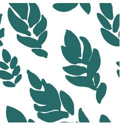 Royal fern seamless pattern green leaf foliage vector