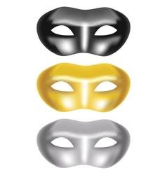 set masks on a white background vector image