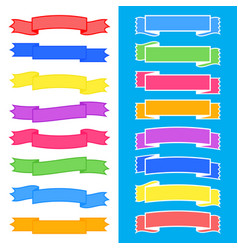 Set of colored insulated ribbons banners with vector