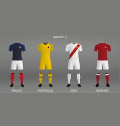 set of football kit vector image