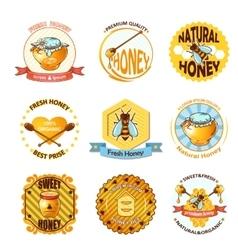 Set Of Honey Emblems vector image