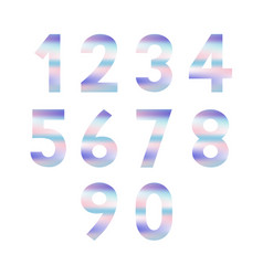 set of numbers with pastel colors vector image