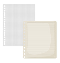 Sheets notebook papers icons vector