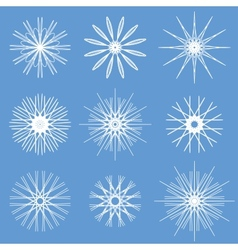Snowflakes Ornament Set vector image