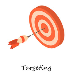targeting icon isometric 3d style vector image