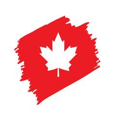 textured flag of canada vector image