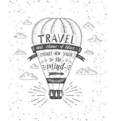 travel air balloon vector image