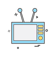 tv icon design vector image