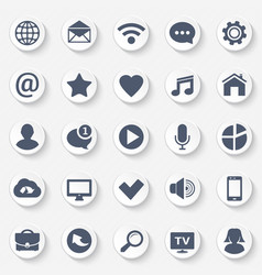 Universal web icons set contact and communication vector