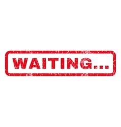 Waiting Rubber Stamp vector