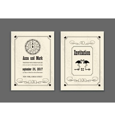 Wedding Party in Wonderland Save the date vector