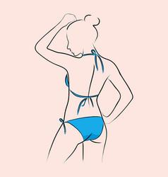 Woman in bikini vector