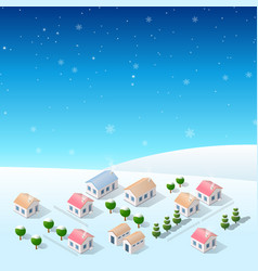 year snow vector image