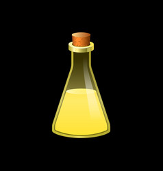 yellow flask icon cartoon style vector image