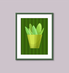 art painting with succulent vector image vector image
