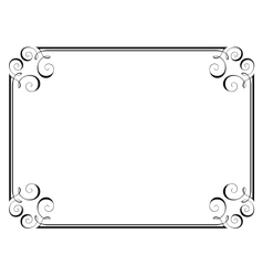 calligraphy ornamental frame vector image vector image