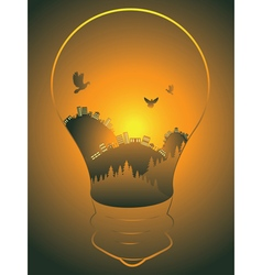 City in a Lightbulb4 vector image