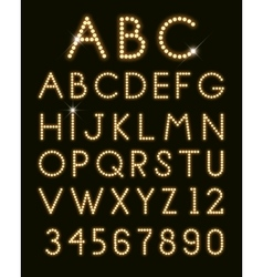 glowing letters vector image vector image