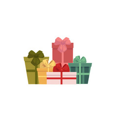 group pile of gift present boxes christmas icon vector image vector image