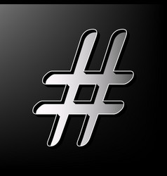 hashtag sign gray 3d printed vector image