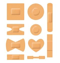 Set of medical plasters vector image