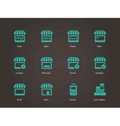 Shop icons vector image vector image