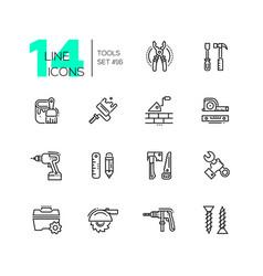 tools - modern single line icons set vector image