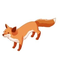 Isometric fox icon vector image