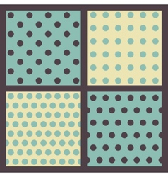 Set of colored dotted patterns vector image vector image
