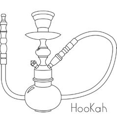 Hookah on white background vector image vector image