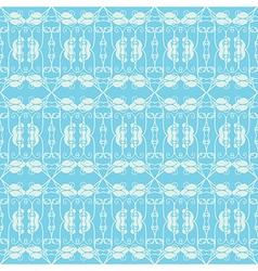 Neutral floral ornament cool blue vector image