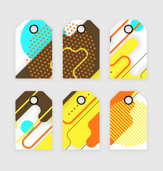paper tags design vector image