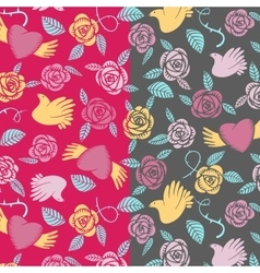 Valentine seamless pattern on a transparent vector image