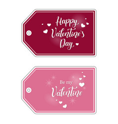 valentine tags for gifts vector image vector image