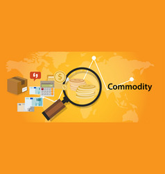 commodity trading market investment concept in vector image