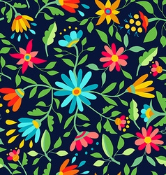 Flower seamless pattern spring color background vector image vector image