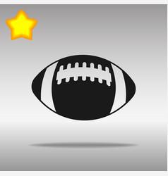 football black icon button logo symbol vector image vector image