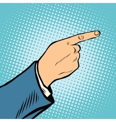 gesture Index finger direction vector image