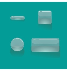 Set of cartoon transparent glossy glass buttons vector image vector image