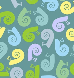 Silhouette snail with spiral shell seamless vector image vector image