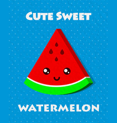 sweet food poster vector image